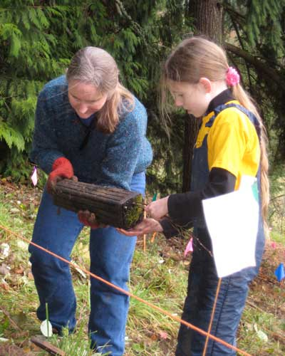 picture of Mary Peck at tree planting project